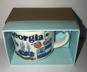 Starbucks Coffee Been There Georgia Ceramic Mug Ornament New with Box