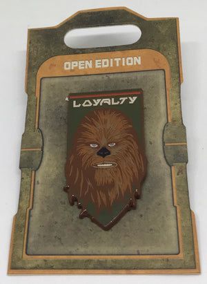 Disney Parks Star Wars Galaxy Edge Chewbacca Loyalty Pin New with Card
