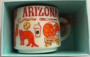 Starbucks Coffee Been There Arizona Ceramic Mug Ornament New with Box
