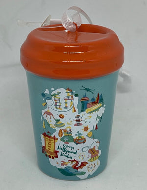 Disney Parks Map Starbucks Been There Hollywood Studios Tumbler Ornament New