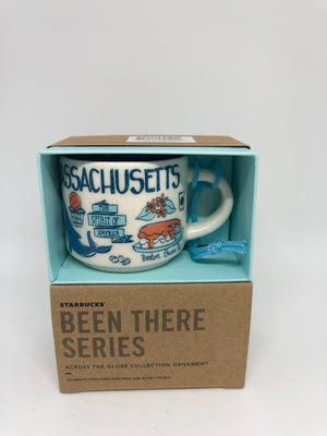 Starbucks Coffee Been There Massachusetts Ceramic Ornament Espresso Mug New Box