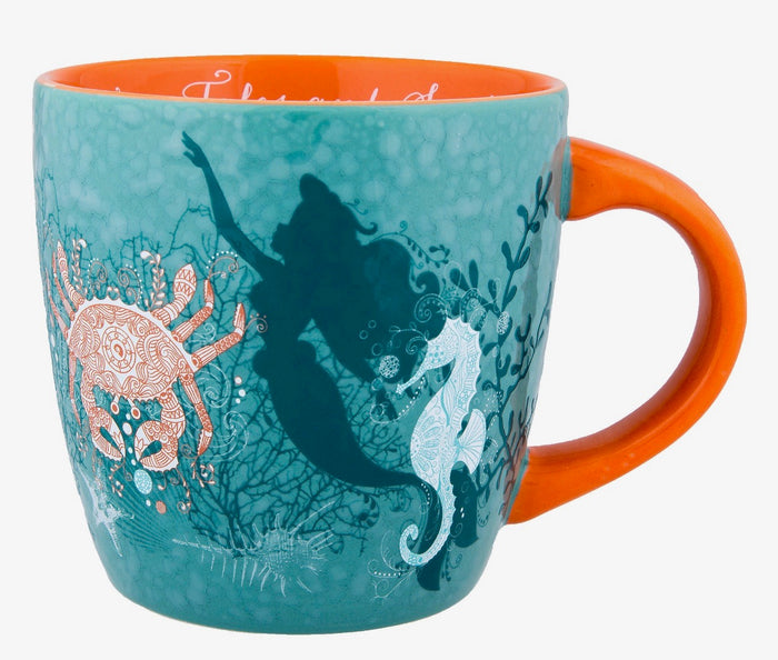 Disney Parks Ariel Nautical Ceramic Coffee Mug New