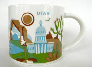 Starbucks You Are Here Utah Ceramic Coffee Mug New with Box