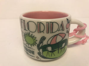 Starbucks Coffee Been There Florida Ceramic Mug Ornament New with Box