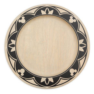 Disney Parks Mickey Mouse Wooden Charger Plate Homestead Collection Kitchen New