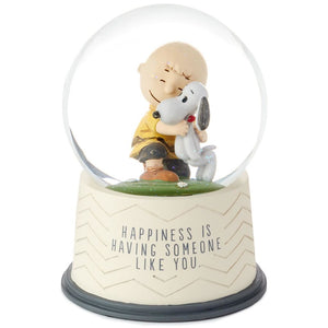 Hallmark Peanuts Happiness Is Someone Like You Snow Globe Charlie Brown Snoopy