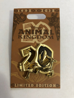 Disney Parks Animal Kingdom 20th Anniversary Antelope Pin New with Card