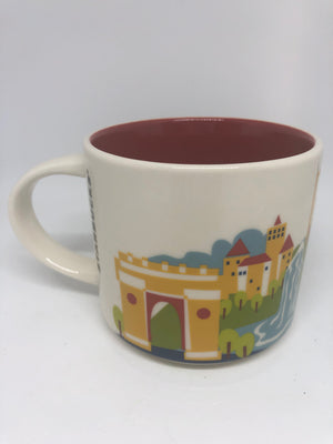 Starbucks You Are Here Romania Ceramic Coffee Mug New with Box