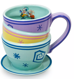 Disney Alice in Wonderland Mad Tea Party Triple Stackable Mug Cup New