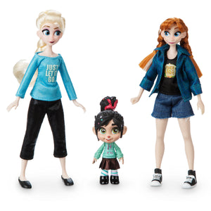 Disney Vanellope with Anna and Elsa Mini Doll Set Ralph Breaks the Internet New