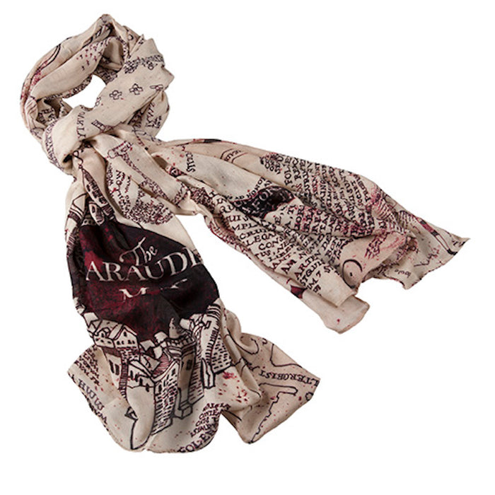Universal Studios Wizarding World of Harry Potter Marauder's Map Scarf New