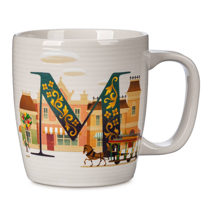 Disney Parks ABC Letters M is for Main Street USA Ceramic Coffee Mug New