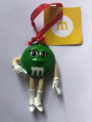 M&M's World Green Character Resin Christmas Ornament New with Tag