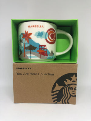 Starbucks You Are Here Collection Spain Marbella Ceramic Coffee Mug New W Box