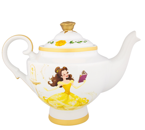 Disney Parks Belle Teapot Beauty And The Beast Ceramic New With Tags