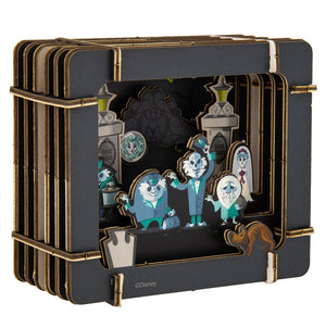 Disney Parks Haunted Mansion Paper 3D Diorama Set New Sealed