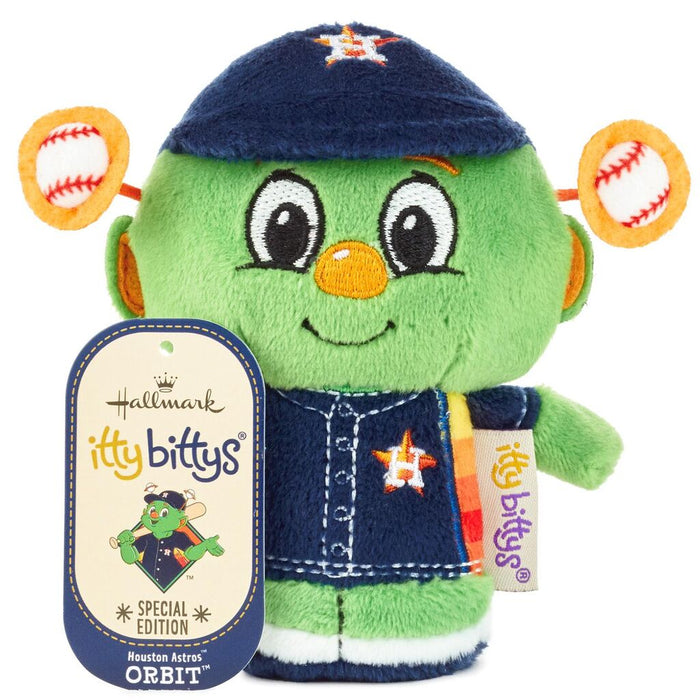 Hallmark MLB Houston Astros Mascot Orbit Special Itty Bittys Plush New with Tag