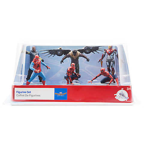 Disney Spider-Man: Homecoming Figure Play Set Cake Topper Playset 6 pieces New
