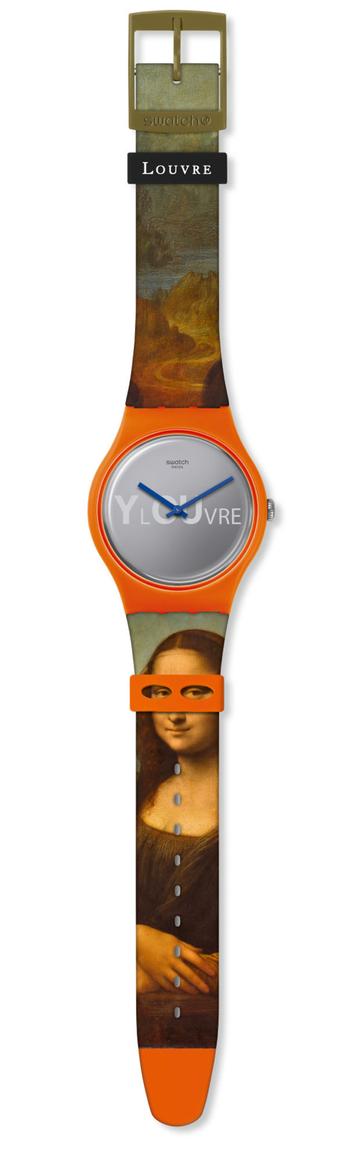 Swatch For Louvre Lisa Masquee Mona Lisa Leonardo Limited Watch New with Box