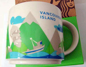Starbucks You Are Here Vancouver Island Canada Ceramic Coffee Mug New with Box