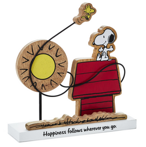 Hallmark Peanuts Snoopy Woodstock Happiness Follows Wherever You Go Figurine