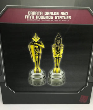 Disney Parks Star Wars Galaxy's Edge Brata and Faya Light Up Statue New with Box