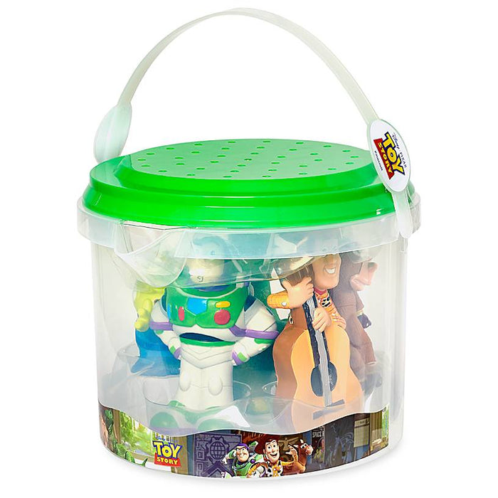 Disney Store Toy Story Bath Set Buzz Lightyear Woody Space Alien Rex Bullseye