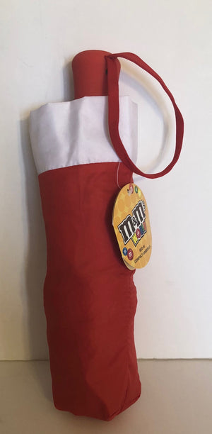 M&M's World Red Lentil Compact Umbrella New with Tags