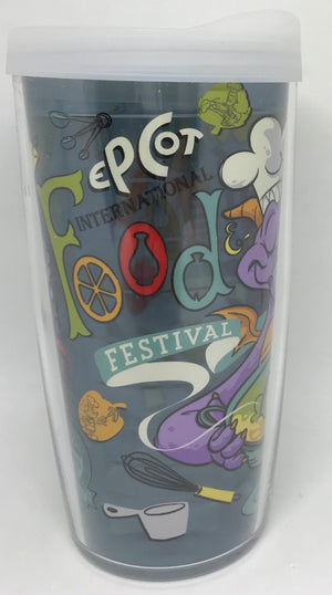 Disney Epcot Food and Wine Festival 2020 Figment Tervis Tumbler New