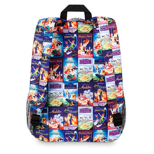 Disney Parks Movies VHS Covers Backpack New with Tag