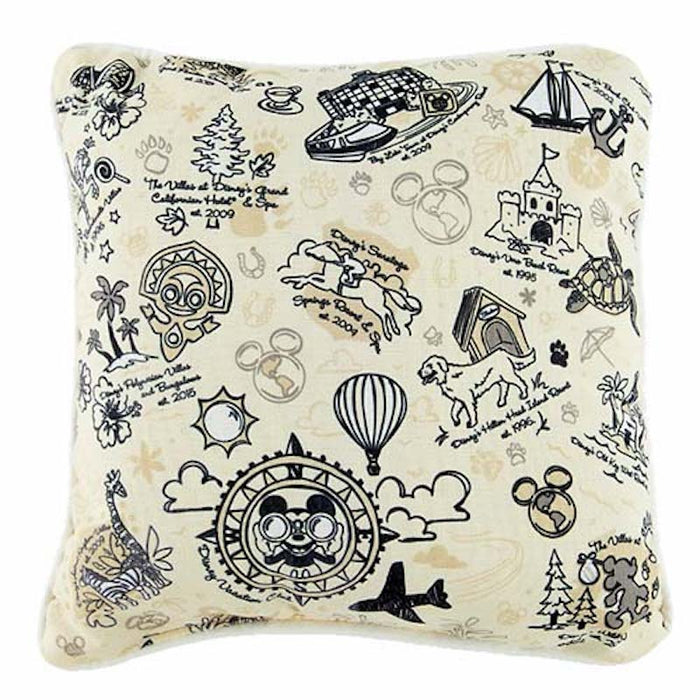 Disney Parks Vacation Club Resorts Pillow New with Tag
