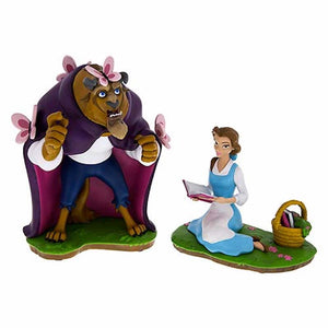 Disney Theme Parks Art Belle and The Beast 2 Figurine Set New with Box