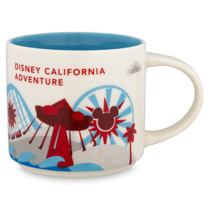 Disney Starbucks You Are Here California Adventure Coffee Mug Paradise Pier New