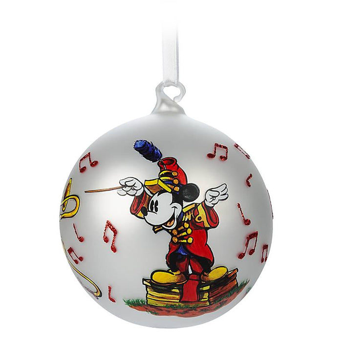 Disney Parks Mickey Band Leader Artist Series Limited Ball Ornament New with Box