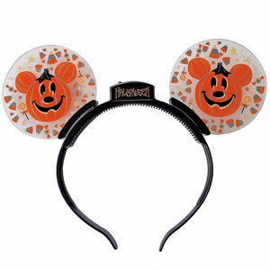 Disney Parks Light Up Mickey Jack O'Lanterns Halloween Headband New with Tag