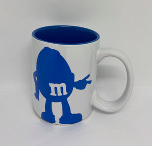 M&M's World Blue Silhouette I'm Awesome You're Welcome Coffee Mug New