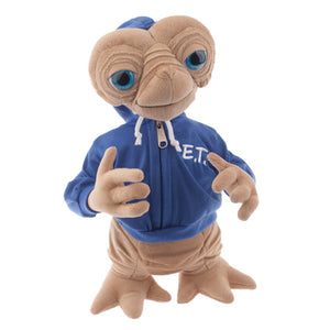 "universal studios 15"" E.T. extra terrestrial blue sweatshirt plush toy new with tags"
