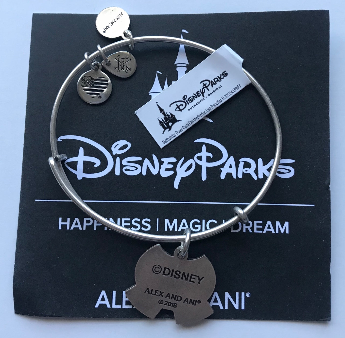 Disney The Original Mickey Mouse Bangle by Alex and Ani Silver Finish New