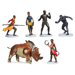 Disney Store Black Panther Figure Play Set 6 Playset Cake Topper New with box