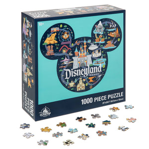 Disney Parks Disneyland Life Map Puzzle New with Box