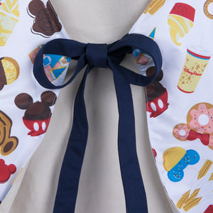 Disney Parks Mickey and Friends Food Icons Apron for Adults New with Tags