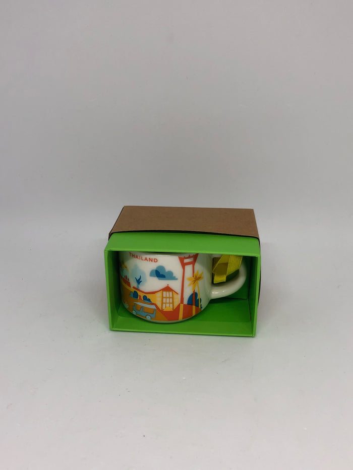 Starbucks Coffee You Are Here Thailand Ceramic Ornament Espresso Mug New Box