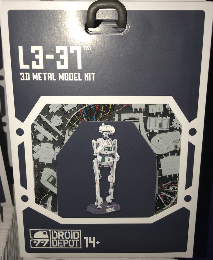 Disney Parks Star Wars L3-37 Droid Factory Metal Model Kit 3D Galaxy Edge New