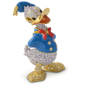 Disney Parks Donald Duck Jeweled Figurine by Arribas Brothers New with Box