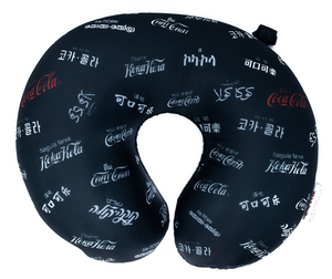 Authentic Coca-Cola Languages Travel Pillow New with Tags