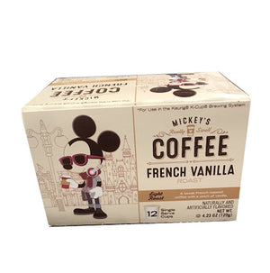 Disney Mickey's Coffee French Vanilla Roast 12 Keurig K-Cup New Sealed