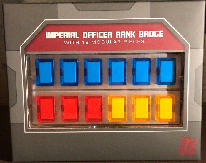 Disney Parks Star Wars Galaxy's Edge Imperial Officer Rank Badge 18 Modular Pcs