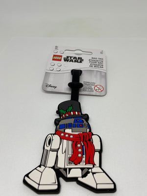 Lego Christmas Star Wars R2-D2 Silicone Luggage Bag Tag New with Tags