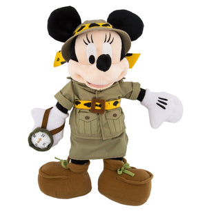"disney parks animal kingdom 12"" minnie safari plush new with tag"