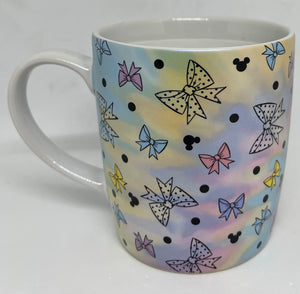 Disney Parks Positively Minnie Mouse Bows Polka Dots Mickey Heads Coffee Mug New